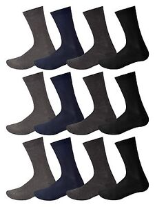 12-Pairs-Mens-Cotton-Soft-Socks-Casual-Dress-Suit-Socks-Black-Assorted-amp-Argyle