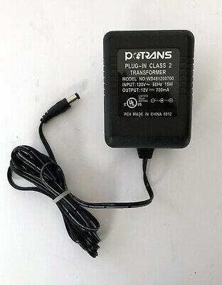 Potrans WD481200700 AC Adapter Power Supply 12 Volts 700mA Class 2 Transformer