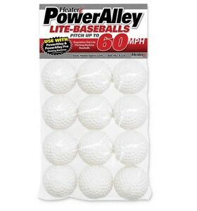 Heater Sports Poweralley 60 Mph White Lite Baseballs