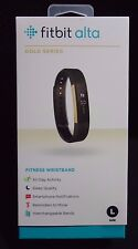 FITBIT ALTA GOLD SERIES  ACTIVITY TRACKER LARGE SIZE  BLACK AND GOLD COLOR