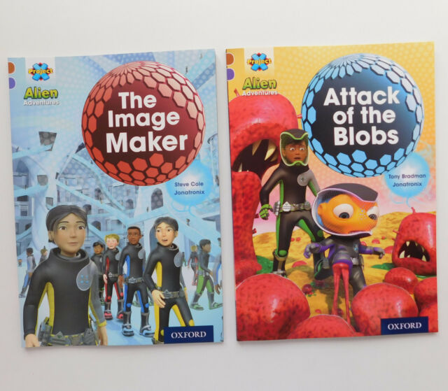 2 childrens books Image Maker Attack of the Blobs Alien Adventure easy readers