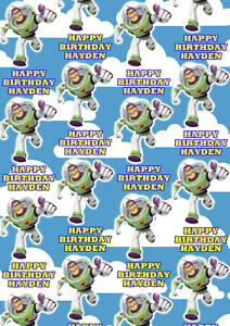 Toy Story Personalised Gift Wrap Buzz Woody Disney Toy Story Wrapping Paper
