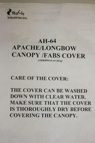 US Army Apache Longbow AH-64 Cockpit Abdeckung Canopy FABS Cover !!!!