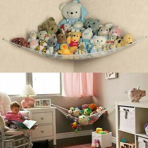 Toy-Hammock-Hanging-Storage-Net-Corner-Kids-Stuffed-Jumbo-Animals-Organizer-USA