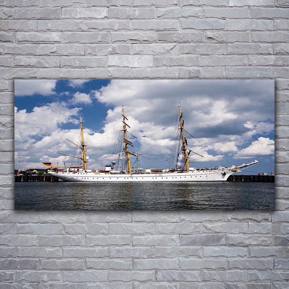 Verre Imprimer Wall Art Image 120x60 Photo bateau eau paysage