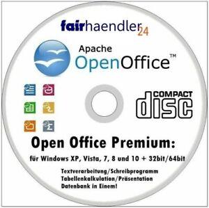 Open Office 2021 DEUTSCH WINDOWS 10, 8 & 7 Schreibprogramm Text Paket Suite Neu