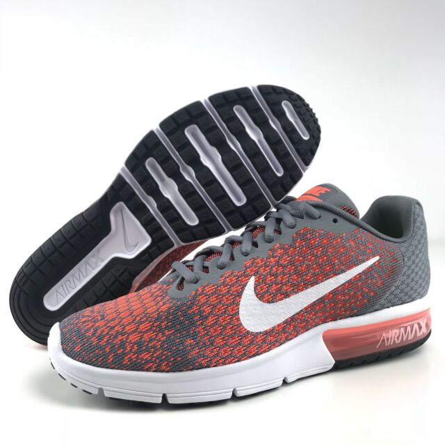 7e998c531788 Nike Air Max Men s Size 13 Sequent 2 Running Shoes Grey Max Orange 852461  008