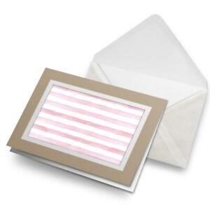 Greetings-Card-Biege-Pretty-Pink-Stripes-Girly-2639