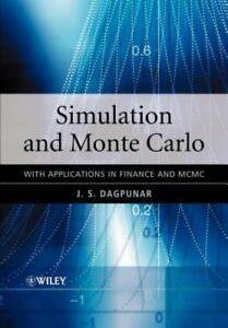 Details about Simulation and Monte Carlo: With applications in finance and  MCMC: By Dagpuna