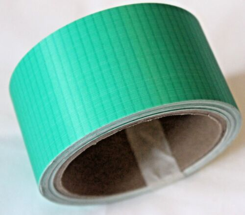 2 in by 25 ft Ripstop Kite Paraglider Sail Repair Nylon Tape Roll in Green