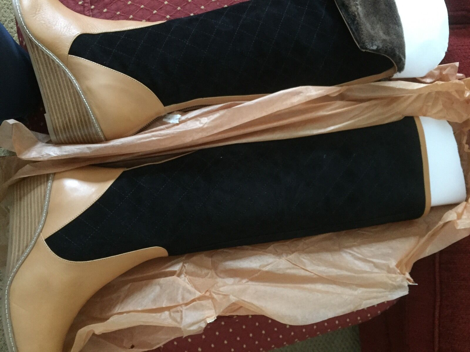 New Anthropologie two tone tone tone Boots size 9  398.00 plus f579a3