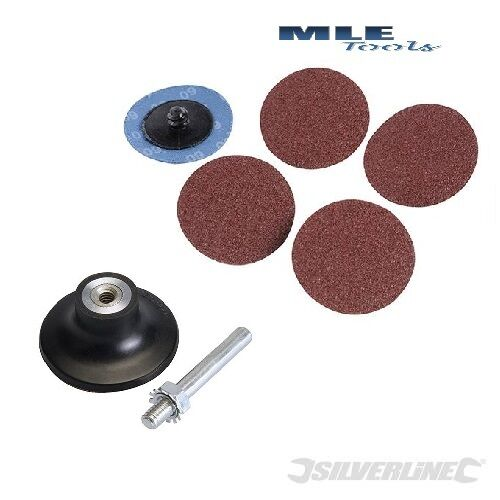 # Silverline 75mm Quick-Change Sanding Discs backing pad automotive body work