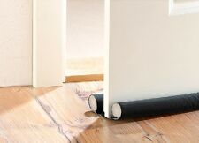 (7,36€/m) Zugluft-Stopper Luftzugstopper für Türen bis 60 mm Dicke - schwarz