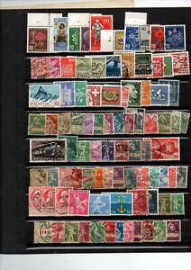 89-timbres-de-Suisse-quelques-neufs