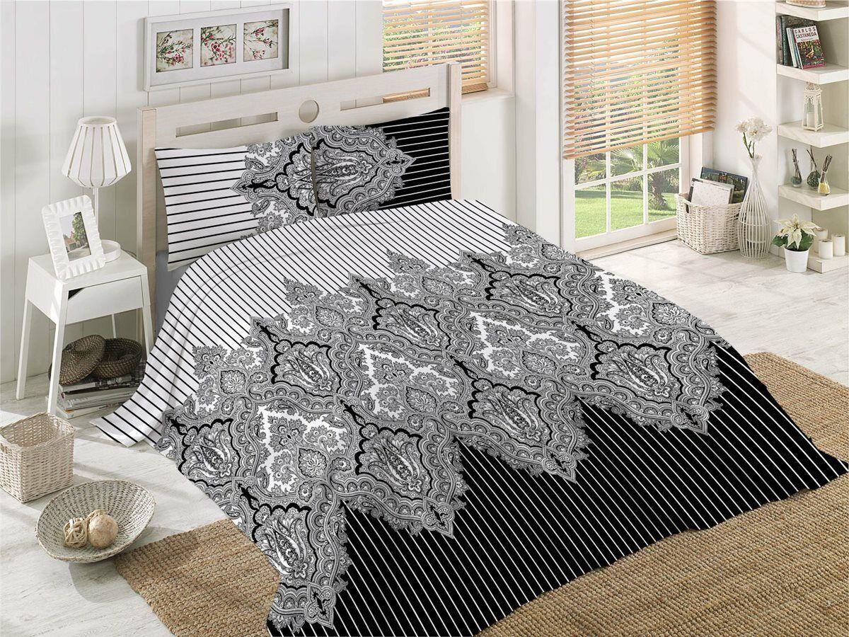 Bettwäsche 220x240 cm Bettgarnitur Bettbezug 100% Baumwolle Kissen 6 tlg LALE SG
