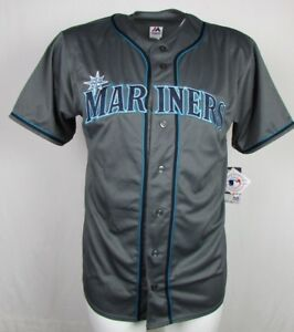 Seattle-Mariners-MLB-Men-039-s-Charcoal-Fashion-Big-amp-Tall-Team-Jersey