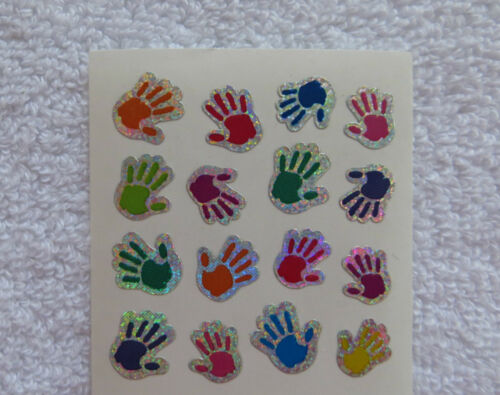 Strip of VINTAGE RETIRED Stickers RARE Sandylion BABY CHILD HAND PRINTS