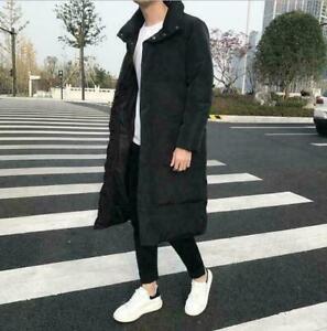 Parka Cotton Outwear Jacket Hooded Men/'s Padded Faux Fur Coat Thicken Warm