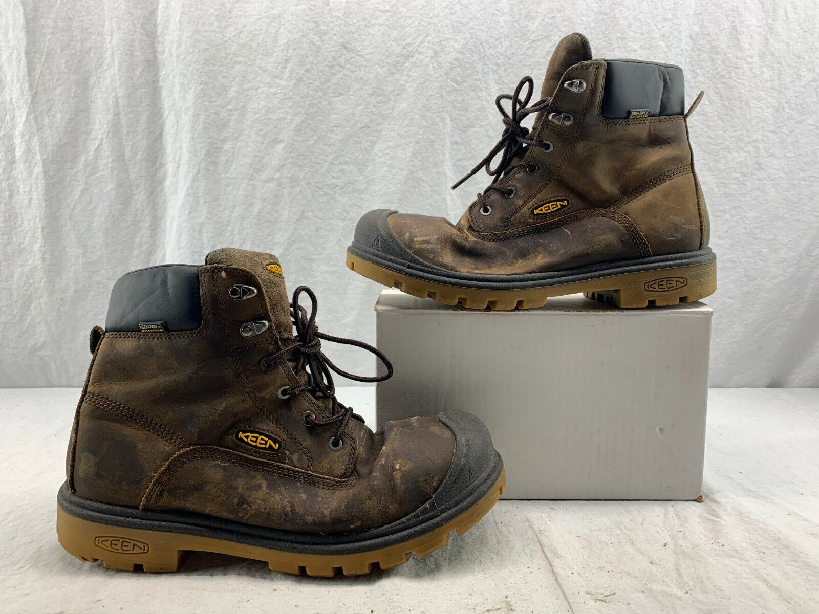 KEEN Utility 1018663 Men's Baltimore 6'' WP Steel Toe Boots EH Brown size 11 D