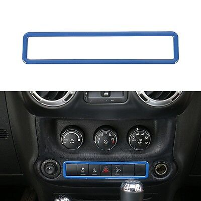 Car Inner Air Vents Button Trim+Emergency light Switch-Yellow fits Jeep Wrangler