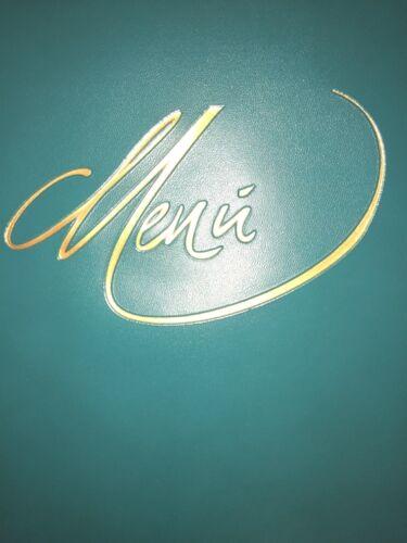 Menu-Mappen aus Kunstleder versch Farben 118 Ecco RH-Speisekarte A4 handgenäht