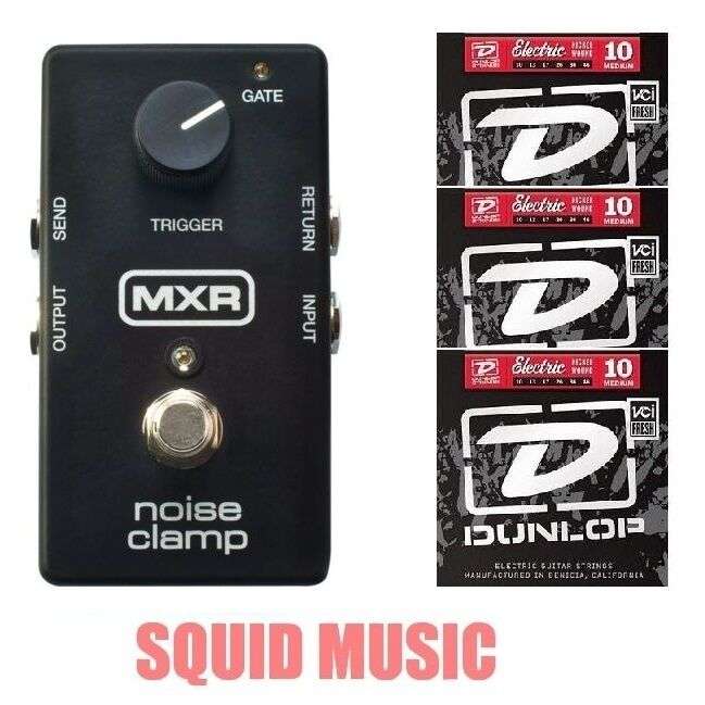 MXR M195 Noise Clamp Noise rotuction Effects Pedal M-195 ( 3 SETS OF STRINGS)