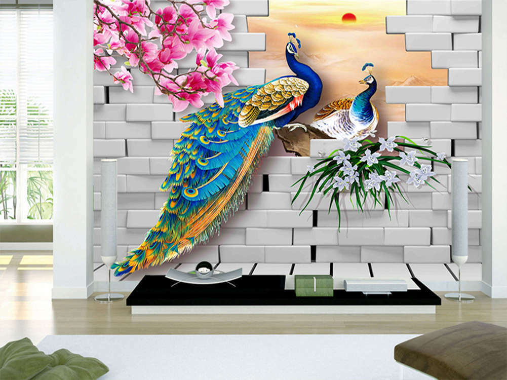 Enormous Calm Magpie 3D Full Wall Mural Photo Wallpaper Printing Home Kids Decor