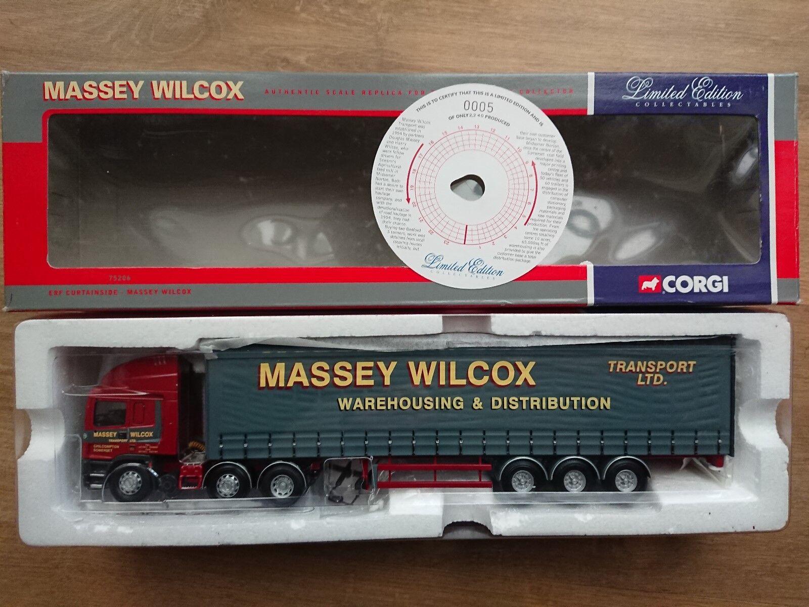CORGI 75206 ERF CURTAINSIDE Massey Wilcox Ltd Edition N. 0005 del 2240
