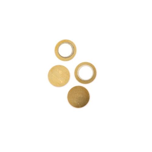 20PCS 20mm Piezo Elements Sounder Sensor Trigger Drum Disc 6.5KHZ Copper ZJHN