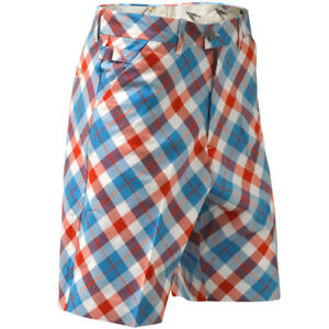 SALE-Golf-Shorts-by-Royal-and-Awesome-Plaid-a-Blinder-Blue-Tartan-30-44