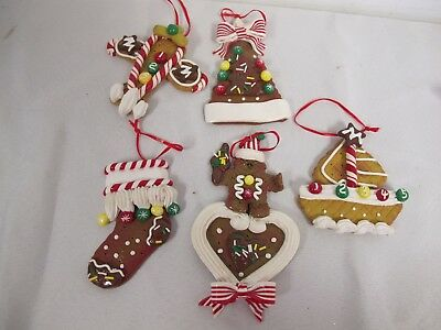 GINGERBREAD COOKIES CLAY DOUGH CHRISTMAS ORNAMENTS PLANE ...