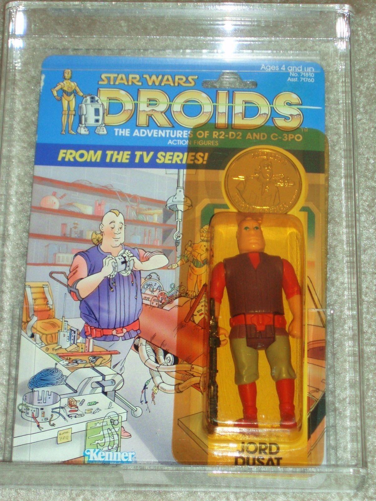 Vintage Star Wars 1985 AFA 80/85/85 JORD DUSAT DROIDS Cartoon Series Kenner MOC