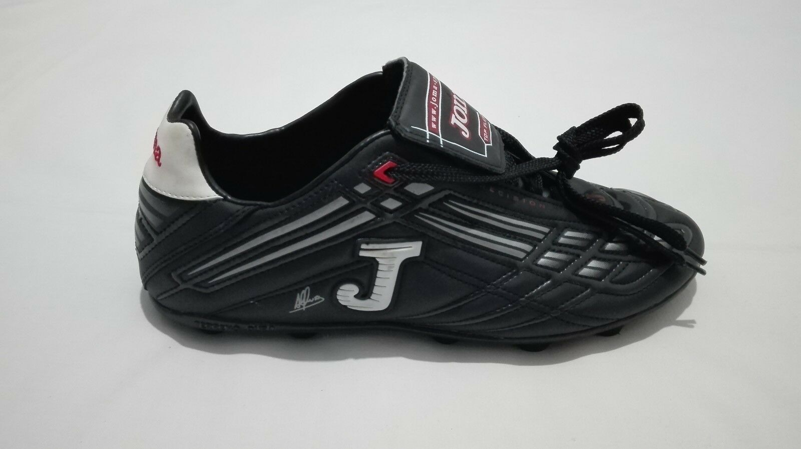 Joma Alfonso Barca Real signed 90's vintage soccer stivali footbtutti sautope, Dimensione 10