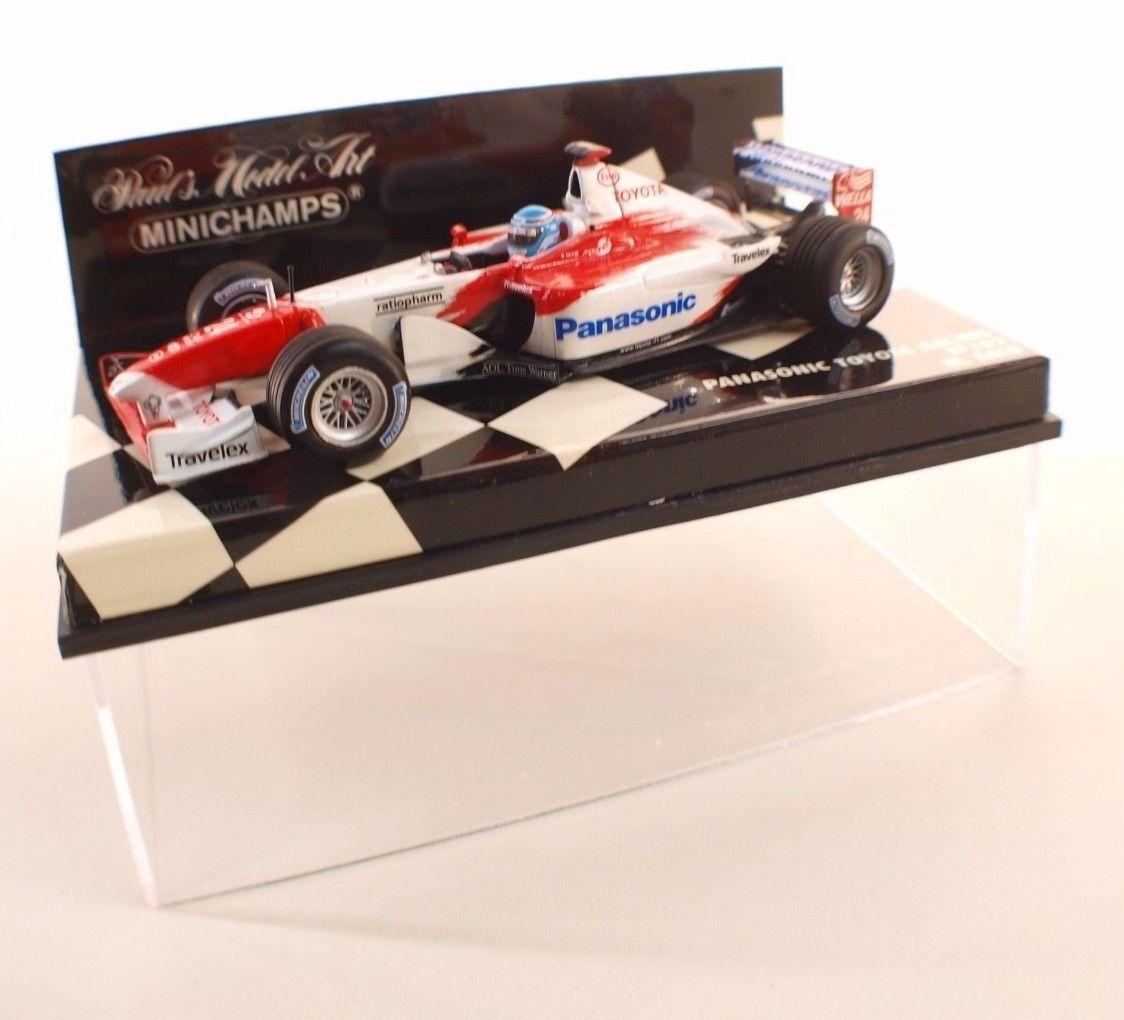 Minichamps  • F1 Panasonic Toyota Racing TF102 M.Salo •1 43 neuf boxed en boite