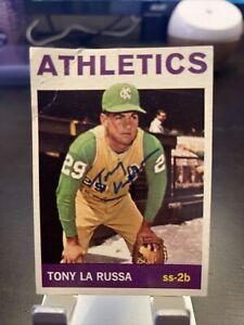 1964 tony larussa topps rc rookie hof signed auto autograph