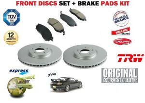 Pour-MITSUBISHI-FTO-1-8-2-01994-2000-Avant-Disque-de-frein-256-mm-Set-Disc-Pads-Set