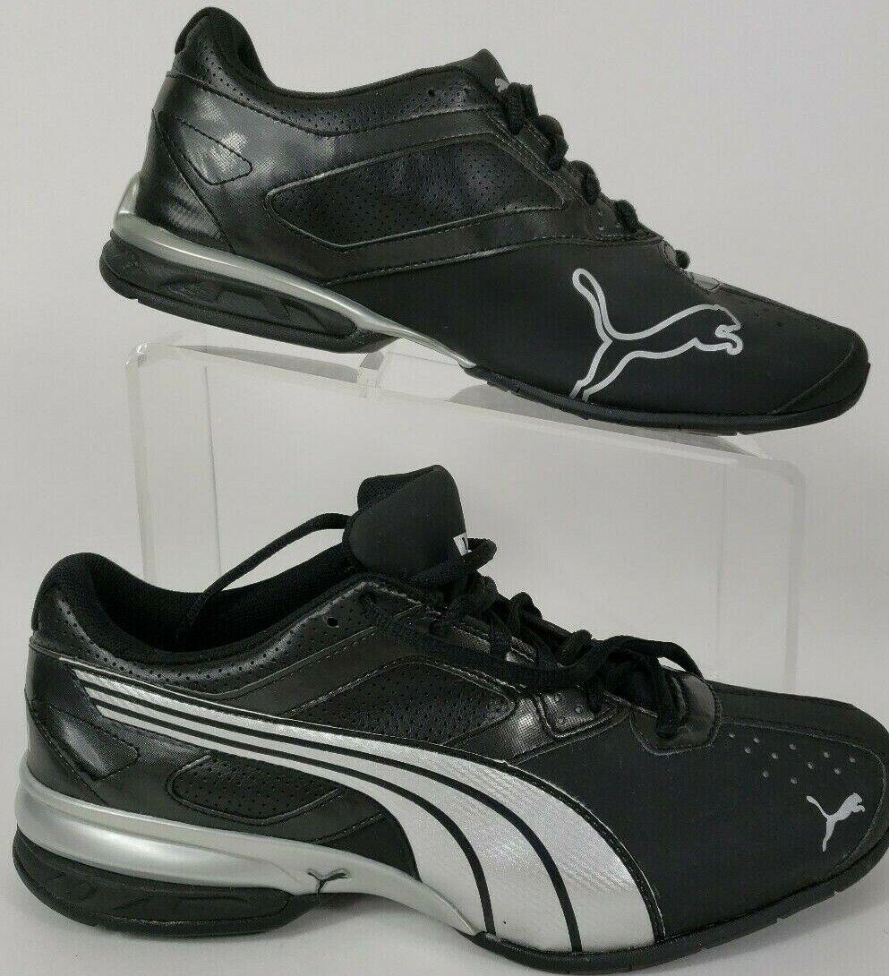 Nuevos zapatos atléticos Puma Tazon Para Hombre EUO 40.5 Negro Astilla Funcionando