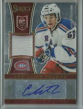 2013-14 Select Hockey Christian Thomas Autographed Jersey Rookie Card # 16/199