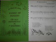 Noten - 40 Kinderlieder für Cello (ein-und zweistimmig)