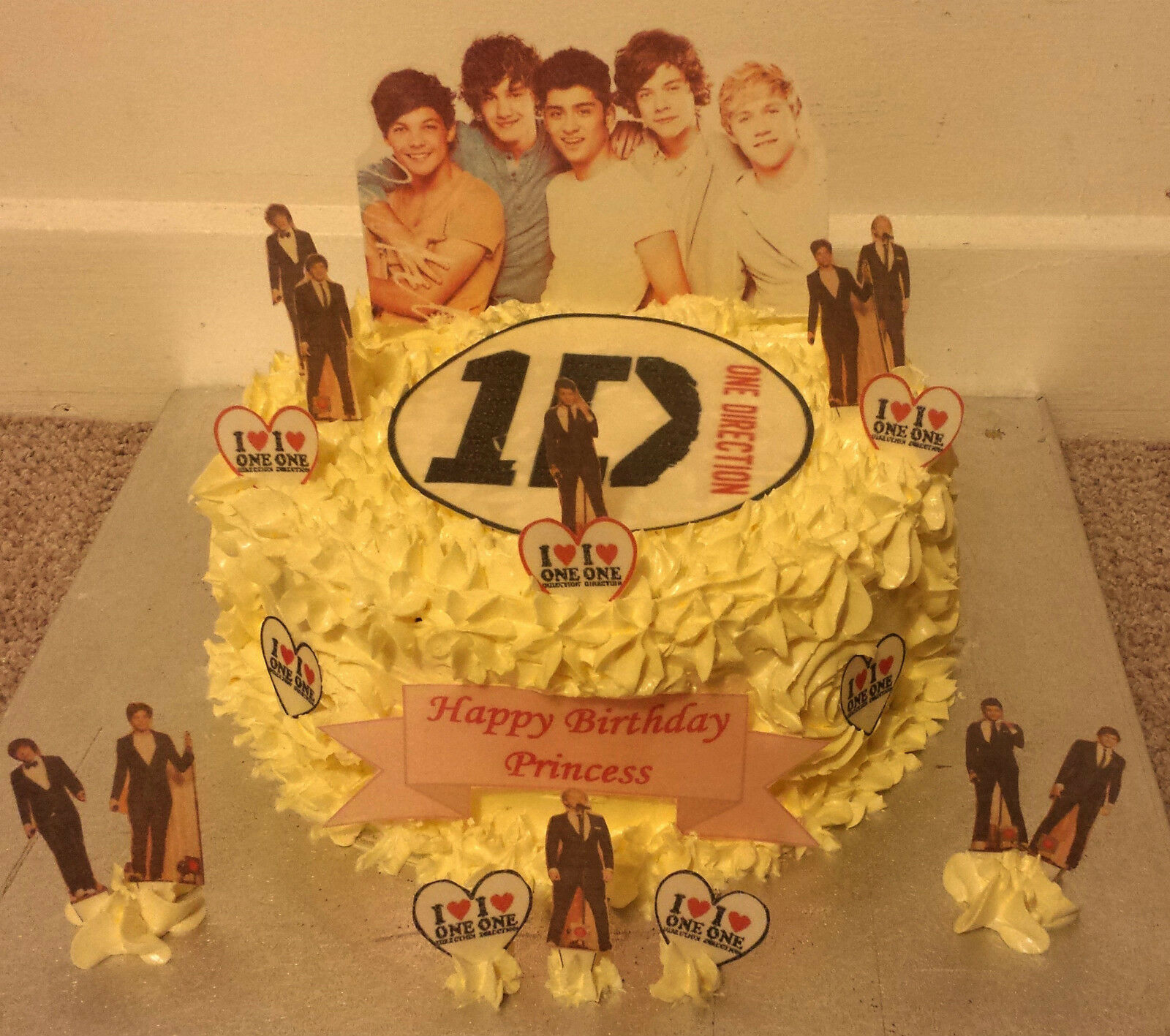 Tremendous 1D One Direction Cup Cake Standup Scene Topper Wafer Edible Personalised Birthday Cards Paralily Jamesorg