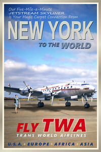 NEW-YORK-TWA-Lockheed-Constellation-Airliner-Retro-Travel-Poster-Art-Print-095