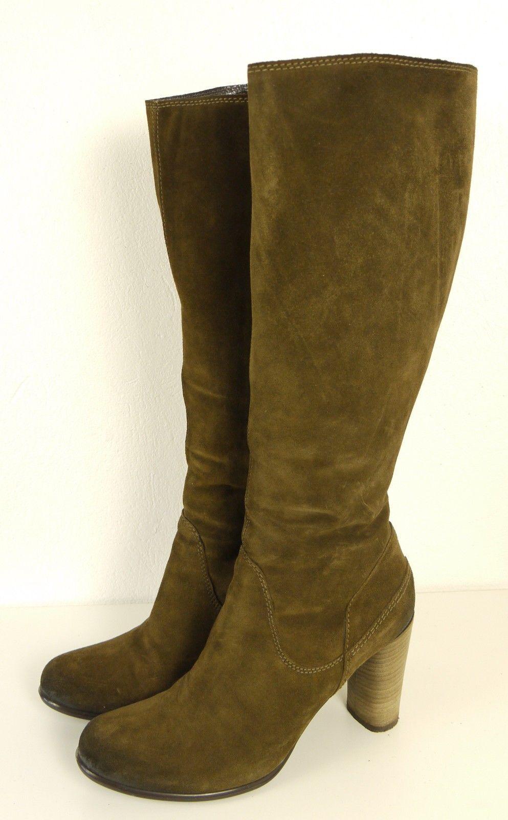 Zapatos especiales con descuento VIC  Stiefel Stiefelette Wildleder Boots Leder Braun Gr. 39 (T62)