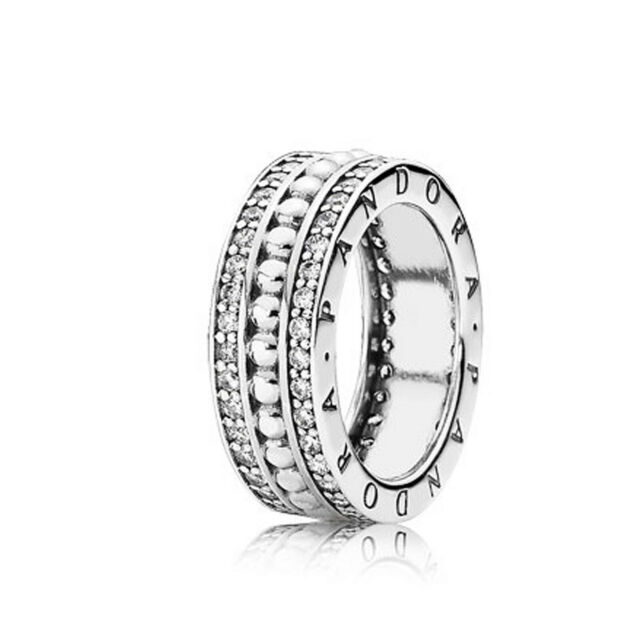 87aef67ae New Authentic Pandora Forever Ring 190962CZ Sterling Silver W Hinged Box