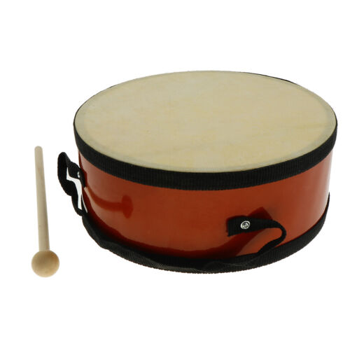 Wood Hand Drum Double Side with Beater Hammer for Kids Preschool Toy