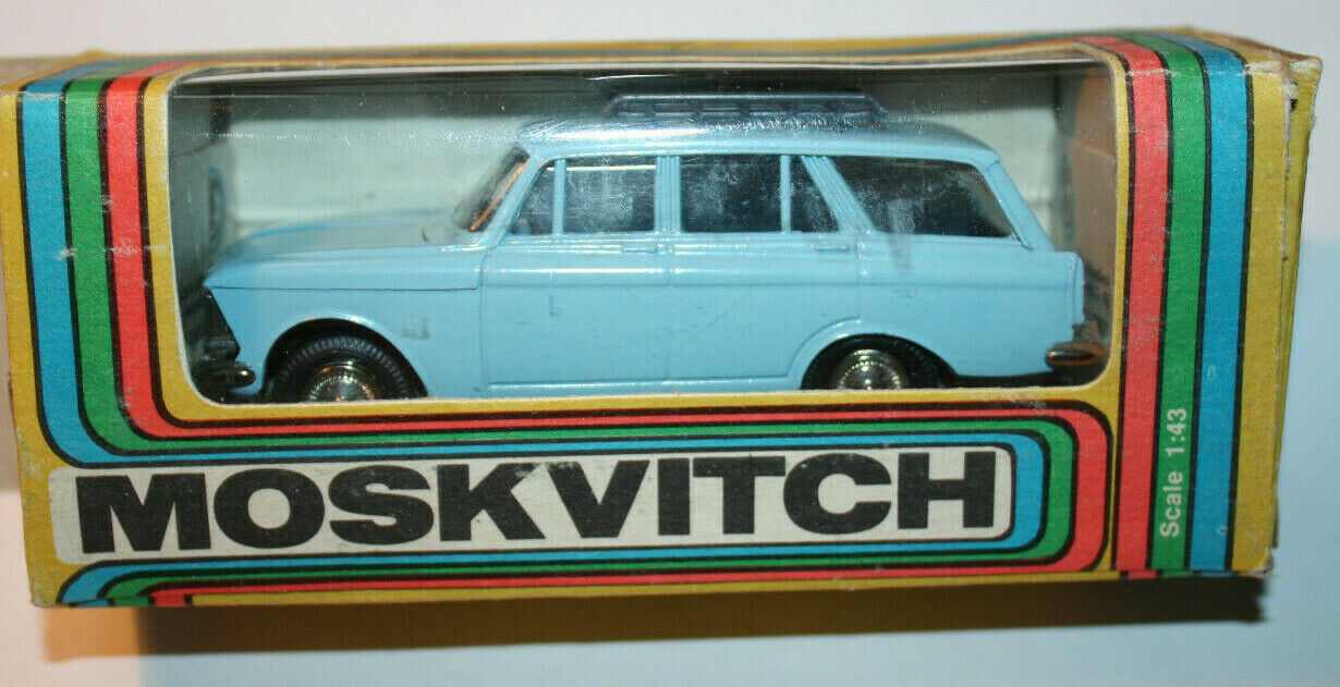 MOSKVITCH 427 blueE blueE w roof rack 1991 USSR Tantal  - 1 43 w  original box