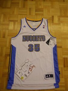 Image is loading NWT-Kenneth-Faried-Denver-Nuggets-Home-White-Adidas- 7f6dc8aa4