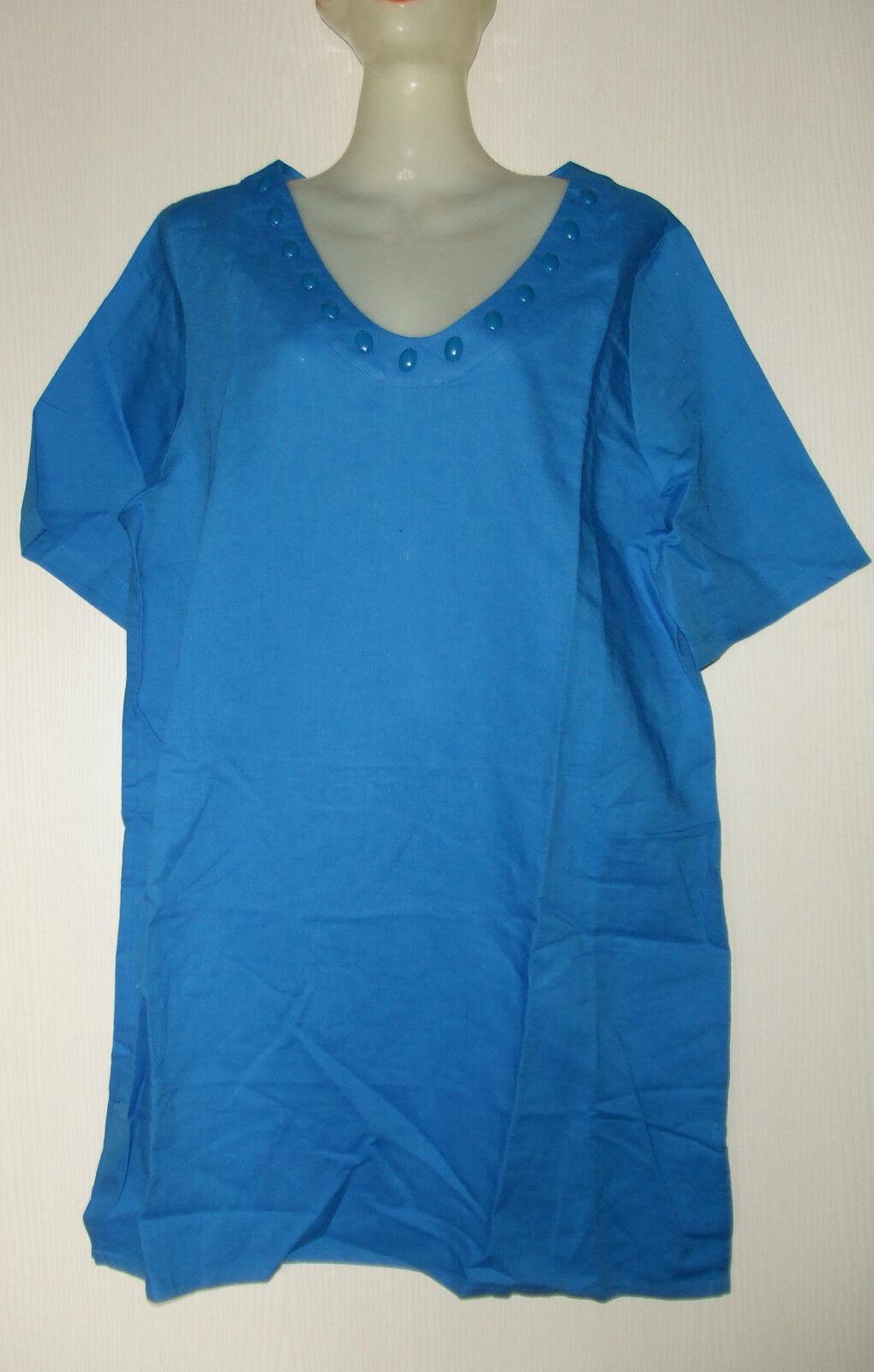 TRIUMPH TUNIQUE DE PLAGE EN LIN LIN LIN ET COTON size FR 44, IT 48 blue 84628b