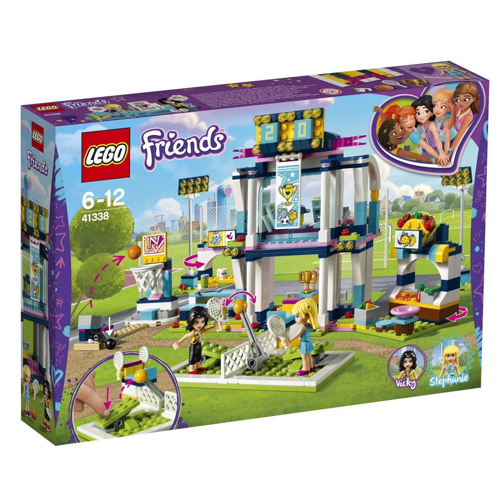 LEGO ® Friends 41338 Stephanies SPORT STADIO NUOVO OVP _ Stephanie's Sports Arena NEW