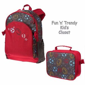 124891981791 Details about NWT Gymboree UNIFORM SHOP Boys Sports Ball Theme Backpack   Lunchbox  2-PC SET