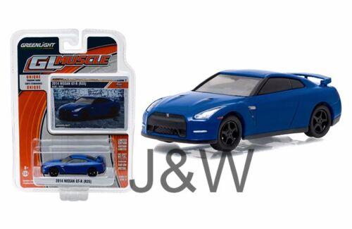 Greenlight Nissan GT-R R35 2014 Blue 1//64 13170F